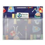 Sandwich Bag mit Fenster und Klettverschluss - Ritter  (von Planet Wise)