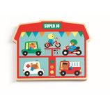 Sounds Puzzle: Super Jo - Fahrzeuge von DJECO