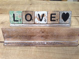 Planken für Scrabblebuchstaben