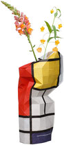 "Papiervase ""Composition with Large red Plane, Yellow, Black, Gray, Blue "" groß"
