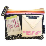 "Designer Kosmetiktasche, Make-Up Tasche ""Note to self - make up Hello"" von DISASTER"