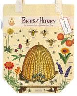 """""""Bees & Honey - Bienen & Honig"""" Baumwoll-Tragetasche von Cavallini"""