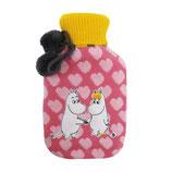 Wärmflasche Mumin in pink mit rosa Herzen (Disaster Desings)