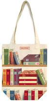 """""""Bücher - Library Books"""" Baumwoll-Tragetasche von Cavallini"""