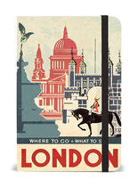"Cavallini Notizbuch, Notebook ""Vintage London"""