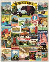 """""""Nationalparks"""" Cavallini Vintage Puzzle"""