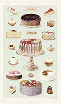 Vintage La Patisserie - Kuchen Geschirrtuch (Cavallini Papers & Co.)