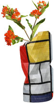 "Papiervase ""Composition with Large red Plane, Yellow, Black, Gray, Blue "" klein"