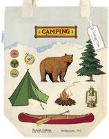 """""""Camping"""" Baumwoll-Tragetasche von Cavallini"""