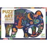 Puzzle :  Puzz'art - Elefant - 150 Teile  von DJECO DJECO