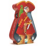 Silhouette Puzzle: Der Pirat und sein Schatz- 36 Teile von DJECO