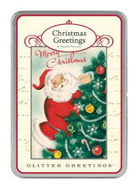 "Glitter Greetings ""Christmas""- Postkartenset  von Cavallini Papers"