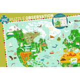"""Wimmelpuzzle  """"Rund um die Welt"""" 200 Teile + booklet  von DJECO"""