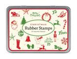 "Stempel Set ""Christmas"" mit 20 verschiedenen Stempelmotiven"