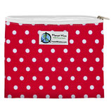 Zipper Sandwich Bag - Red Dots - rot mit weißen Punkten (von Planet Wise)
