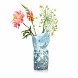 """Papier Vase """"Grauvariationen mit Silbersegmenten"""" groß"""