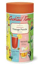 """Bar - Cocktails"""" Cavallini Vintage Puzzle"""