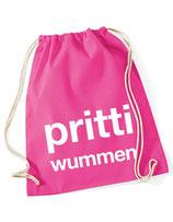 Turnbeutel - Sportbeutel prittiwummen rosa