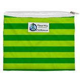 Zipper Sandwich Bag - grüne Streifen (von Planet Wise)