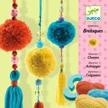 Wolle: 3 Schlüsselring Pompons  von DJECO