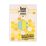 beeGoodies - 3er - Set Wiederverwendbare Frischhalte-Wraps mit Bienenwachs beschichtet