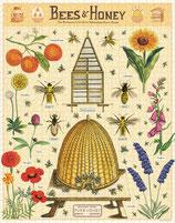 """""""Bees & Honey - Bienen & Honig"""" Cavallini Vintage Puzzle"""