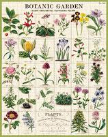 """""""Botanic Garden - Blumen, Garten"""" Cavallini Vintage Puzzle"""