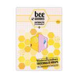 beeGoodies - 2er - Set Wiederverwendbare Frischhalte-Wraps mit Bienenwachs beschichtet
