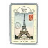 """Glitter Greetings, Vintage Paris""- Postkartenset  von Cavallini Papers"
