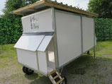 Fips Hobby Mobilstall (Für ca. 15 Hühner)