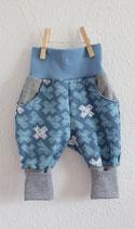 Mitwachshose Cross/Blau/Grau  Gr. 1 (50-62) - Einzelstück