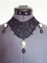 Collier Halsband Kette Gothic Totenkopf Choker