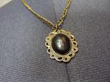 Bronzefarbene Cameo Kette Gothic Lolita schwarz