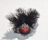 Fledermaus Federn Haarspange und Brosche silber
