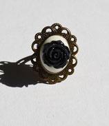 Kamee Blumen Ring Größenverstellbar leuchtend