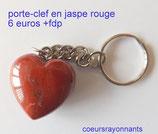 porte-clefs coeur en minéraux