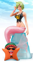 One Piece Super Styling Ambitious Might Figur: Kamy / Keimi & Pappag  (13cm)