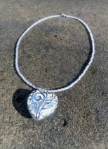"Collier ""silver heart"""