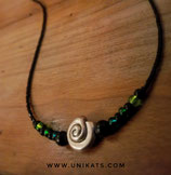 "Collier ""green swirl"""