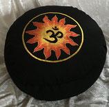 """Meditationskissen Sonne """"OM"""" 33 x 15 cm"""