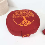 Reisekissen buddhistisch rot Baum des Lebens