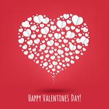 Hübsch gestalteter Gutschein Valentinstag ( personalisierbar )