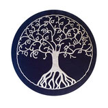 Baum des Lebens dunkelblau/ weiß