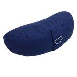 Hochwertiges Yogakissen Shivaya Halbmond blau