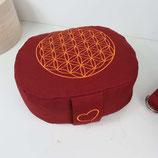 Reisekissen buddhistisch rot Blume des Lebens