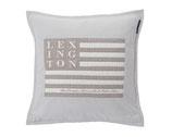 Lexington // Kissenhülle Art & Craft (Grau/Weiß)