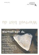 """KlappKarte """"Wertvoll bist du"""" - Bestellnummer (ID): KADW0109"""