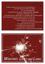 """KlappKarte """"Wahrheit, Licht und Liebe"""" - Bestellnummer (ID): KADW0111"""