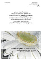 """KlappKarte """"Leichtigkeit"""" - Bestellnummer (ID): KADW0115"""