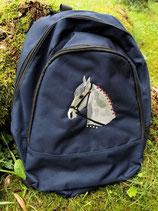 Rucksack bestickt mit Pferdekopf
